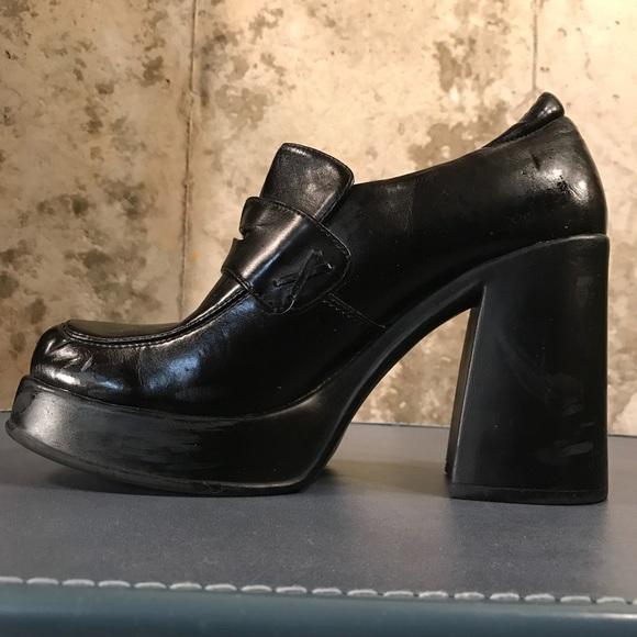 b7834ffd144 Candie s Shoes - Vintage 1990 s Candies Black Platform Loafer